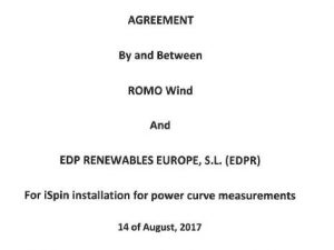 PTP participation agreement signed with EDPR for 10 V112s and 10 E82s
