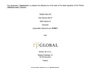 PTP participation agreement signed with rpGlobal for 10 E82s in flat terrain