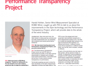 Performance Transparency Project (Article in PES Journal)